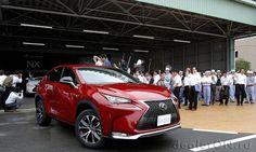Кроссовер Lexus NX 200t 2015 / Лексус NX 200t 2014 на заводе Toyota Miyata