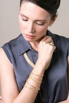 BOHO bracelet Gold wrap bracelet Women wrap bracelet by Yoola