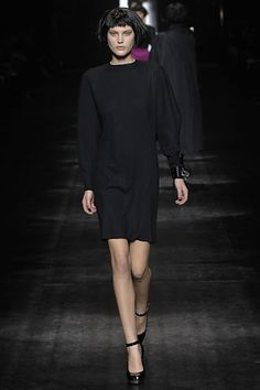 Lanvin - Fall 2007 RTW - black chemise dress
