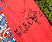 Heroes Save the Jammer woman's Racer back Tank