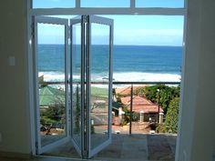 accordion style folding glass doors