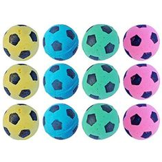 "PETFAVORITESâ""¢ Foam/Sponge Soccer Ball Cat Toy Best Interactive Cat Toys Ever Most Popular Independent Pet Kitten Cat Exrecise Toy balls for Real Cats Kittens, Soft/Bouncy/Noise Free. (12 Pack) *** Read more reviews of the product by visiting the link on the image. (This is an affiliate link) #Cats"
