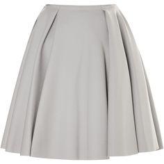 Nina Ricci Felted Wool Circle Skirt ($655) ❤ liked on Polyvore