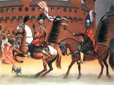 """""""Entry of Queen Constantia, Cracow, 1605""""  • Rotamaster of Hussars  • Hussar Comrade   Angus McBride"""