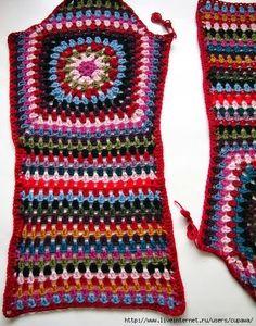 Crochet by Jane: COLOURFUL LONG COATS - CASACOS COMPRIDOS PARA O INVERNO