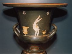 Gnathian calyx krater with white flesh acrobat. Ex american private collection. Thanks to Dr. M. Padgett