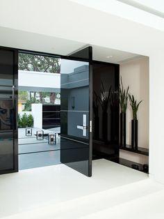 Modern Front Door Design From Jennifer Post Modern Interior, Home Interior Design, Interior Architecture, Interior Doors, Interior Ideas, Modern Luxury, Exterior Design, Wall Exterior, Exterior Cladding