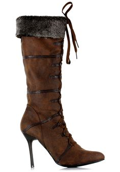Sexy Brown Viking Boots