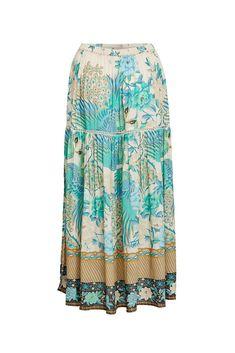 09d6fdc00af9 Spell Cloud Dancer Maxi Split Skirt
