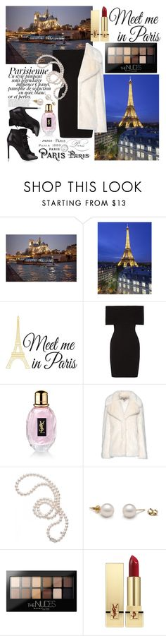 """""""Paris, mon amour!"""" by hereisalessia ❤ liked on Polyvore featuring Wall Pops!, Magdalena, Rosetta Getty, Yves Saint Laurent, STELLA McCARTNEY, Mikimoto and Maybelline"""
