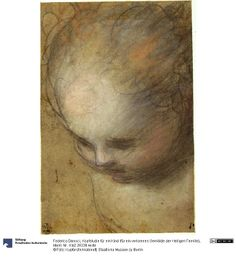 Federico Barocci - Study for a Head of a Child c. 1560-65 (Kopfstudie für ein Kind (für ein verlorenes Gemälde der Heiligen Familie)); Staatliche Museen zu Berlin