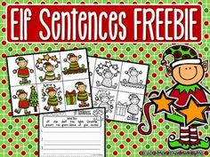 Here is a simple, easy prep center for students to practice writing sentences with a Christmas - Elf theme! Download Elf Sentences FREEBIE to receive 6 picture cards (full color and b/w) and 2 different sentence recording sheets. Whether your students are just beginning to write complete sentences or