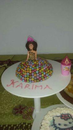 gâteau d'anniversaire de princesse avec Smarties, princess cake with Smarties for girl
