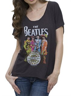 $38 Beatles T-Shirt: Sgt Pepper Black Vintage Inspired Drifter Dolman -Beatles Fab 4 Store Beatles Merchandise by The Beatles