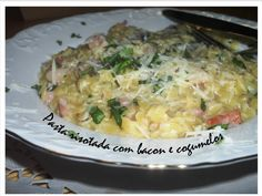 Risotto Pasta with bacon and mushrooms