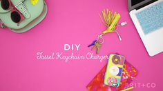Follow this video DIY tutorial to learn how to make a tassel keychain charger.
