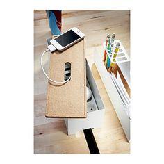 KVISSLE Ladestation mit Kabelaufbewahrung IKEA Geräte, Ladegeräte und Kabel verschwinden unter dem Deckel der Ladestation mit Kabelaufbewahrung.