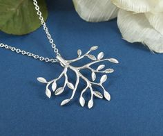 Tree Necklace STERLING SILVER CHAIN by LadyKJewelry on Etsy, $24.85