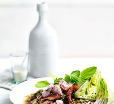 Australian Gourmet Traveller recipe for Larb ped (minced duck salad) Duck Salad Recipes, Lettuce Wedge, Asian Salads, Gluten Free Chilli, Fried Shallots, Salad Dishes, Chilli Flakes, Fish Sauce, Soup And Salad
