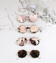 Chic Sunglasses - shades of rose and gold. Ray Ban Sunglasses, Cat Eye Sunglasses, Sunglasses Women, Pink Sunglasses, Trending Sunglasses, Summer Sunglasses, Mirrored Sunglasses, Lunette Style, Jewelry Accessories