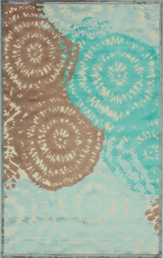 Tufted art silk and chenille rug with an abstract medallion motif. Tye Dye, Pattern Art, Abstract Pattern, Jaipur Rugs, Contemporary Rugs, Accent Rugs, Joss And Main, Floor Rugs, Area Rugs