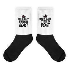 Black foot socks - Beauty Time To Beast                      – ShopFlexy