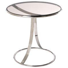 Warren Platner Circular Chrome And Smoke Glass Table