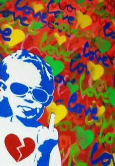 Buy Original Artwork at Artwork Only - Fuk Love by Sanuj Birla