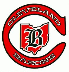 The logo for the Cleveland Barons, a hockey team that played in the NHL Hockey Logos, Nhl Logos, Sports Team Logos, Rink Hockey, Hockey Teams, Cleveland Team, Columbus Blue Jackets, National Hockey League, Hockey Players