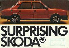 SKODA S110R COUPE 105S L 120 L LE LS LSE original 1980 UK market brochure
