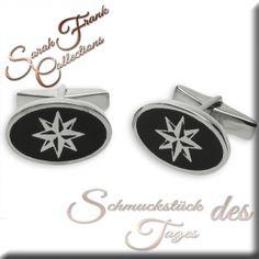 Manschettenknöpfe schwarz - Silber 925/000 Cufflinks, Accessories, Black