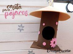 Una casita para pájaros hecha con goma EVA
