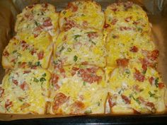The best baked toast you've ever eaten - Fabulous Recipes Slovak Recipes, Czech Recipes, Appetizer Recipes, Snack Recipes, Cooking Recipes, Healthy Recipes, Kolaci I Torte, Pizza, What To Cook