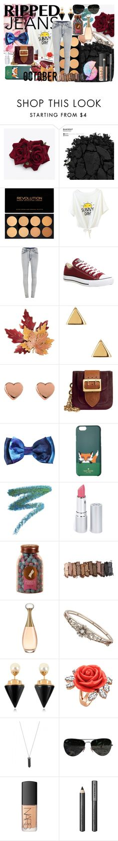 """""""A Little Tear, Here and There"""" by nerdychic101 on Polyvore featuring Urban Decay, Cheap Monday, Converse, Croft & Barrow, Argento Vivo, Ted Baker, Burberry, Kate Spade, Manic Panic and HoneyBee Gardens"""