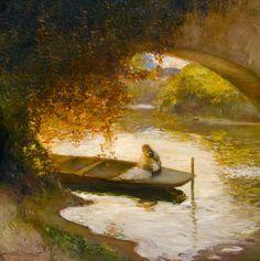 Sous l'arche, Gaston La Touche. French (1854 - 1913) - Oil on Canvas - Gladwell & Patterson