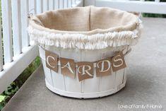 DIY Wedding Card Basket... - Love of Family & Home