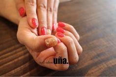 juicy red nail 秋シェル 福岡のネイルサロンウーニャ nail salon uña.  #nail#nailsalonuna#nailart#shell#秋シェル