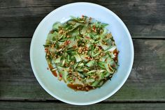 Deborah Madison's Ribboned Cucumber Salad with Chile & Roasted Peanuts