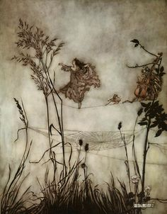 Fairy Dancing by Arthur Rackham  A.R. is one of the best illustrative artists of all time