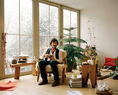 photographer Mark Borthwick in his Brooklyn house