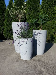 Design flowerpots that we offer in 3 different sizes.  It is perfect for both the interior and exterior as well because each flowerpot has inside and outside impregnation against soaking water.  If you have any questions, please do not hesitate to contact me. Flower Pots, Interior And Exterior, Concrete, The Outsiders, Planter Pots, This Or That Questions, Water, Design, Gripe Water