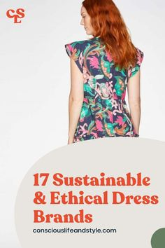 Eco-conscious Brands with Ethical and Sustainable Dresses for every aesthetic. These conscious fashion brands use materials like organic cotton and tencel, they also manufacture locally or use fair trade practices. The sustainable dress brands in this guide will fit the bill for nearly any upcoming occasion! They've got everything from stunning eco t-shirt dresses and flowy floral midis, to party dresses and ethical bridesmaid dresses. #EthicalDresses #SustainableDresses #Sustainablefashion Ethical Fashion Brands, Ethical Clothing, Sustainable Clothing Brands, Sustainable Fashion, Independent Clothing, Fair Trade Fashion, Vegan Fashion, Dress Brands, Minimalist Fashion