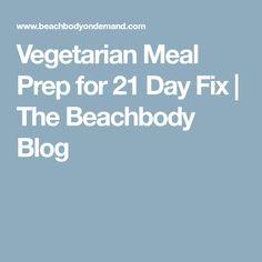 Vegetarian Meal Prep for 21 Day Fix | The Beachbody Blog