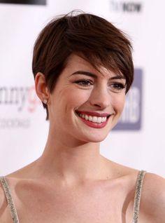 Anna Hathaway's short hair