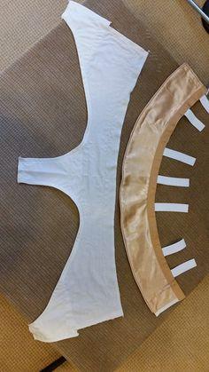 Basque and panty layout - Classical Ballet Tutu - gold cream - Tutu construction