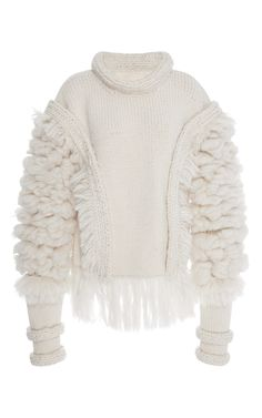 Long Sleeve Chunky Crew Neck Sweater  by PRABAL GURUNG for Preorder on Moda Operandi