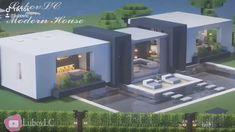 Villa Minecraft, Modern Minecraft Houses, Minecraft House Plans, Minecraft Mansion, Minecraft Cottage, Minecraft House Tutorials, Minecraft Room, Minecraft House Designs, Minecraft Tutorial