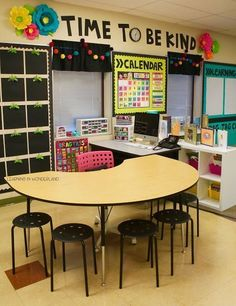 Beautiful, organized classroom! Love the bright colors.