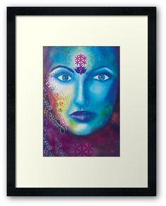 'Divine Feminine' Framed Print by Ria Rademeyer Centerpiece Decorations, Divine Feminine, Off Colour, Custom Boxes, Box Frames, Framed Art Prints, Print Design, Type Design
