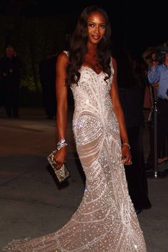 Naomi Campbell evening gown